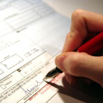 Signature d'un formulaire