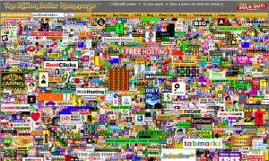 Capture d'écran de la page 1 millions pixels