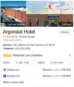 R2servation d'hôtel directement depuis Google