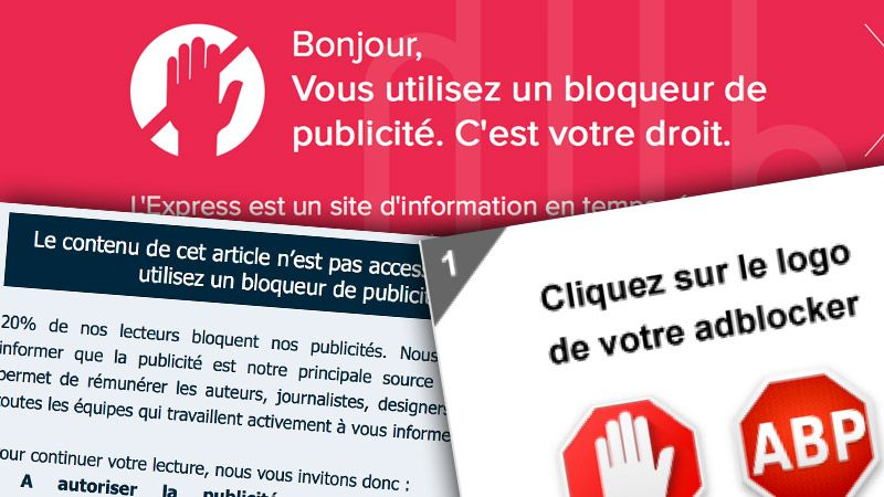 Illustration d'un bloqueur de pub
