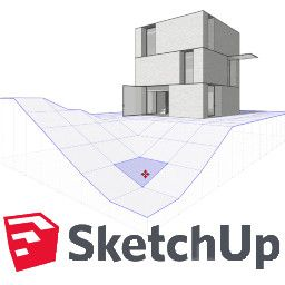 logo et réalisation avec sktechup
