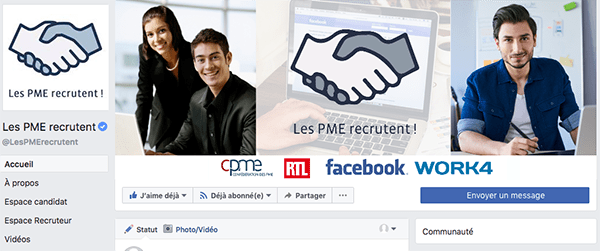Page Facebok-Les PMERecrutent